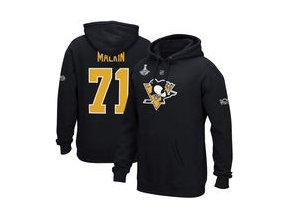 Mikina Evgeni Malkin Pittsburgh Penguins Reebok 2017 Stanley Cup Champions Replica Name & Number Pullover Hoodie - Black