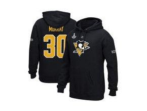 Mikina Matt Murray Pittsburgh Penguins Reebok 2017 Stanley Cup Champions Replica Name & Number Pullover Hoodie - Black