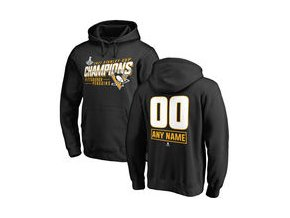 Mikina Pittsburgh Penguins Fanatics Branded 2017 Stanley Cup Champions Personalized Extra Pullover Hoodie - Black