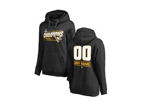 Dámská mikina Pittsburgh Penguins Fanatics Branded Women's 2017 Stanley Cup Champions Personalized Extra Pullover Hoodie - Black
