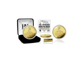 Zlatá pamětní mince Pittsburgh Penguins Highland Mint 2017 Stanley Cup Champions Gold Mint Coin