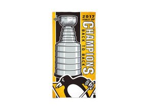 "Pittsburgh Penguins WinCraft 2017 Stanley Cup Champions 30"" x 60"" Spectra Beach Towel"
