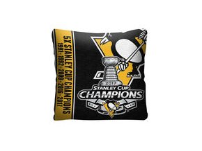 Pittsburgh Penguins The Northwest Company 2017 Stanley Cup Champions Throw Pillow