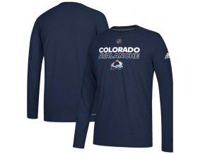 Tričko Colorado Avalanche Authentic Ice Climalite Ultimate L/S