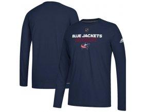 Tričko Columbus Blue Jackets Authentic Ice Climalite Ultimate L/S