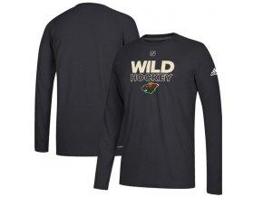Tričko Minnesota Wild Authentic Ice Climalite Ultimate L/S