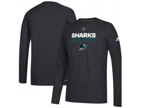 Tričko San Jose Sharks Authentic Ice Climalite Ultimate L/S