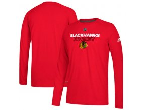 Tričko Chicago Blackhawks Authentic Ice Climalite Ultimate L/S Red