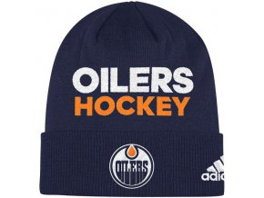 Zimní Čepice Edmonton Oilers Locker Room 2017