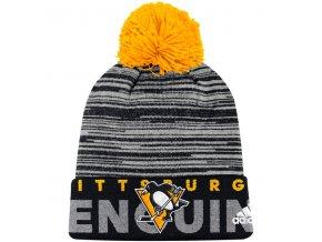 Zimní Čepice Pittsburgh Penguins On-Ice Cuffed Pom
