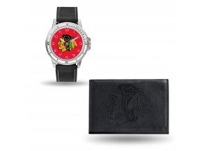 Set hodinky a peněženka  Chicago Blackhawks NHL Sparo