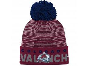 Dětská zimní čepice  Colorado Avalanche NHL Team Logo Cuffed