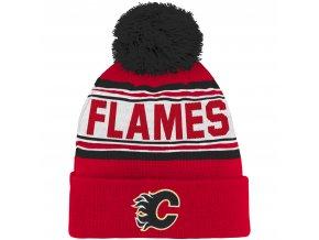 Dětská zimní čepice  Calgary Flames NHL Wordmark Cuffed
