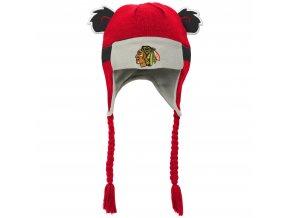 Dětská Beranice zimní čepice  Chicago Blackhawks NHL Stripe Ears Trooper