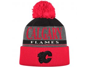Kulich Calgary Flames Cuffed Knit Hat With Pom