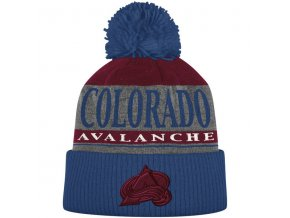Kulich Colorado Avalanche Cuffed Knit Hat With Pom