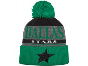 Kulich Dallas Stars Cuffed Knit Hat With Pom