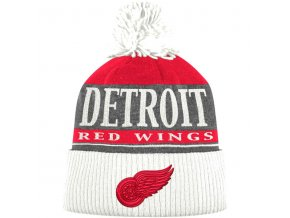 Kulich Detroit Red Wings Cuffed Knit Hat With Pom
