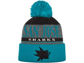 Kulich San Jose Sharks Cuffed Knit Hat With Pom