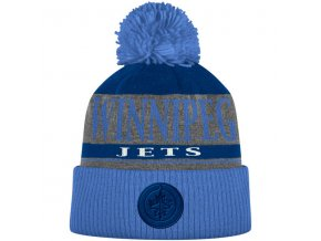 Kulich Winnipeg Jets Cuffed Knit Hat With Pom
