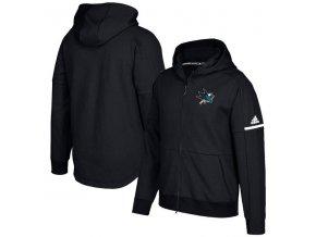 Mikina San Jose Sharks Authentic Pro Squad ID Full-Zip Hood