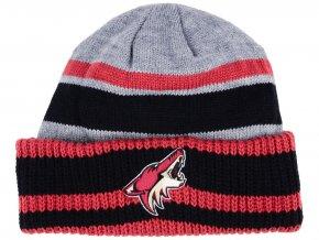 Zimní čepice Arizona Coyotes adidas NHL Heathered Grey Beanie