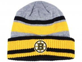 Zimní čepice Boston Bruins adidas NHL Heathered Grey Beanie