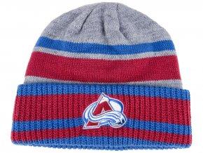 Zimní čepice Colorado Avalanche adidas NHL Heathered Grey Beanie