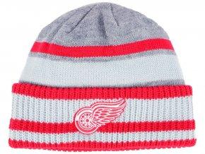Zimní čepice Detroit Red Wings adidas NHL Heathered Grey Beanie