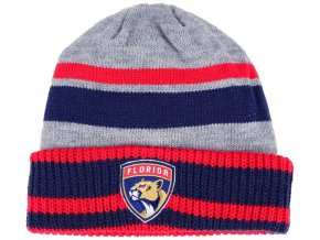 Zimní čepice Florida Panthers adidas NHL Heathered Grey Beanie