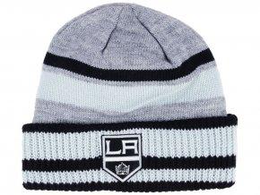 Zimní čepice Los Angeles Kings adidas NHL Heathered Grey Beanie