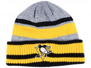 Zimní čepice Pittsburgh Penguins adidas NHL Heathered Grey Beanie