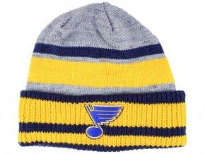 Zimní čepice St. Louis Blues adidas NHL Heathered Grey Beanie