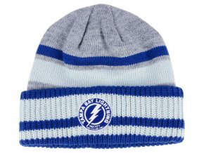 Zimní čepice Tampa Bay Lightning adidas NHL Heathered Grey Beanie