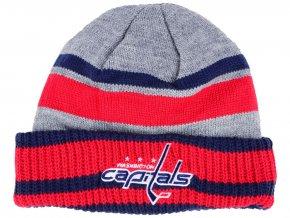 Zimní čepice Washington Capitals adidas NHL Heathered Grey Beanie