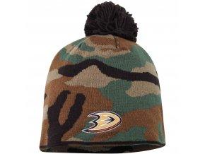 Kulich Anaheim Ducks Reebok Camo Cuffless Knit Beanie With Pom