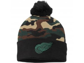 Kulich Detroit Red Wings New Era Camo Top 2 Woodland Knit Beanie