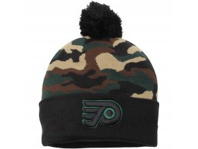 Kulich Philadelphia Flyers New Era Camo Top 2 Woodland Knit Beanie