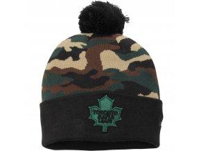 Kulich Toronto Maple Leafs New Era Camo Top 2 Woodland Knit Beanie