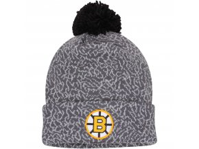 Kulich Boston Bruins Mitchell & Ness Vintage Crack Pattern Knit Hat