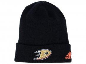 Zimní čepice Anaheim Ducks adidas NHL Basic Cuff Knit