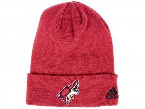 Zimní čepice Arizona Coyotes adidas NHL Basic Cuff Knit