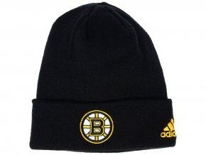 Zimní čepice Boston Bruins adidas NHL Basic Cuff Knit BLK