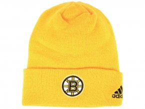 Zimní čepice Boston Bruins adidas NHL Basic Cuff Knit YELL