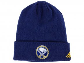 Zimní čepice Buffalo Sabres adidas NHL Basic Cuff Knit