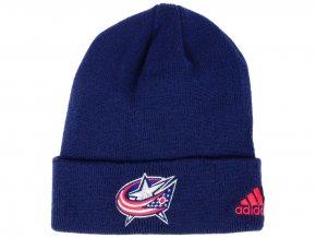 Zimní čepice Columbus Blue Jackets adidas NHL Basic Cuff Knit
