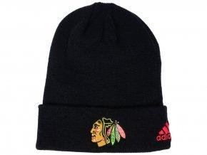 Zimní čepice Chicago Blackhawks adidas NHL Basic Cuff Knit BLK