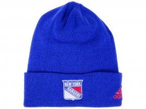 Zimní čepice New York Rangers adidas NHL Basic Cuff Knit BLUE