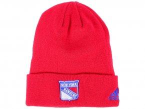Zimní čepice New York Rangers adidas NHL Basic Cuff Knit RED