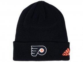 Zimní čepice Philadelphia Flyers adidas NHL Basic Cuff Knit BLK